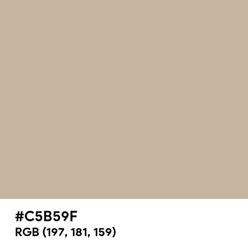 Sandstorm (Hex code: C5B59F) Thumbnail