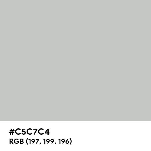 Light Grey (RAL) (Hex code: C5C7C4) Thumbnail