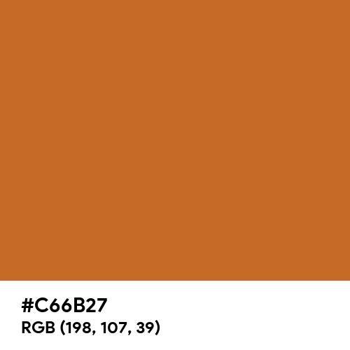 金茶 (Kincha) (Hex code: C66B27) Thumbnail