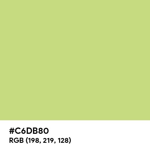 Medium Spring Bud (Hex code: C6DB80) Thumbnail