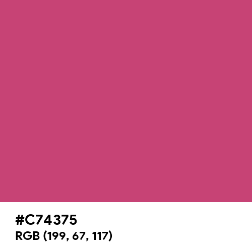 Fuchsia Rose (Hex code: C74375) Thumbnail