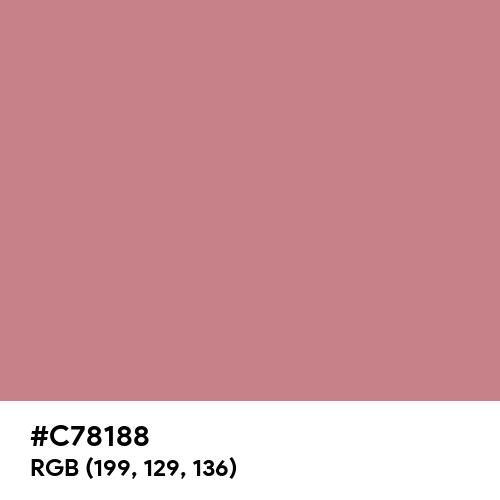 Matte Rouge (Hex code: C78188) Thumbnail