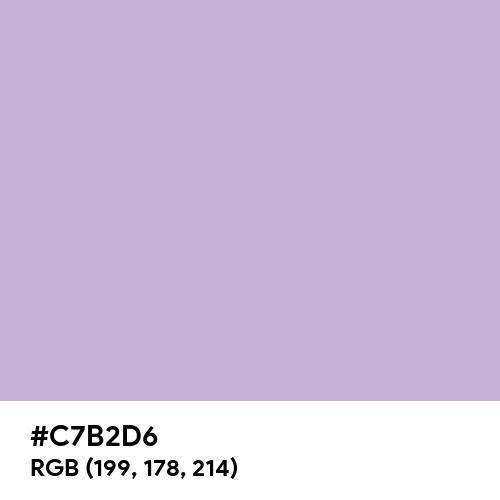 Mauve CMYK (Hex code: C7B2D6) Thumbnail