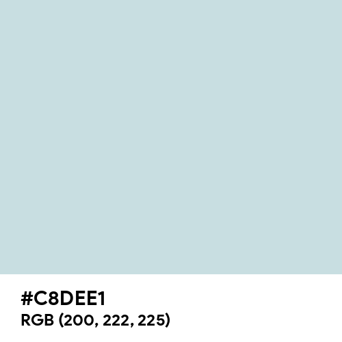 Columbia Blue (Hex code: C8DEE1) Thumbnail