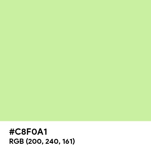 Tea Green (Hex code: C8F0A1) Thumbnail