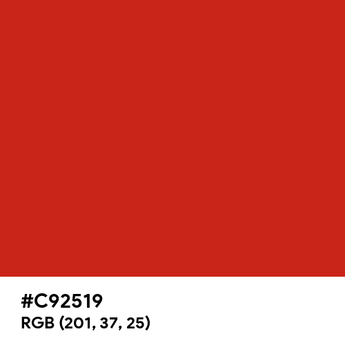 Easter Red (Hex code: C92519) Thumbnail