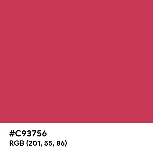 中紅 (Nakabeni) (Hex code: C93756) Thumbnail
