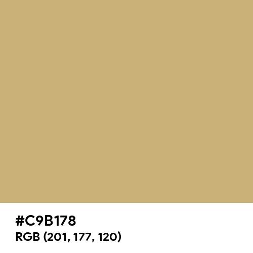 Gold Tan (Hex code: C9B178) Thumbnail