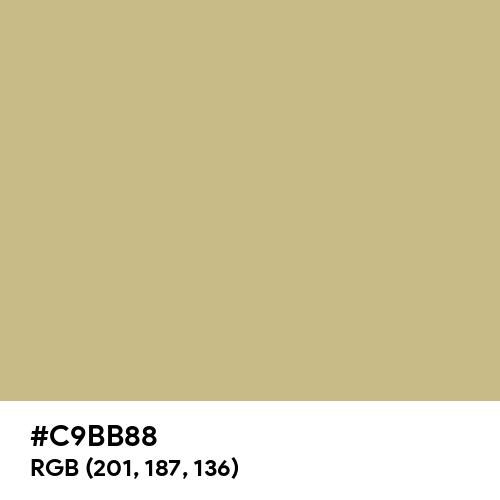 Green Beige (Hex code: C9BB88) Thumbnail
