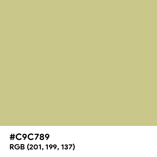 Hazel (Hex code: C9C789) Thumbnail