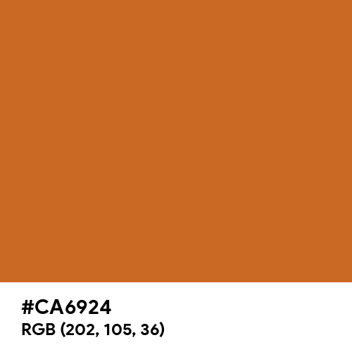 琥珀色 (Kohaku-iro) (Hex code: CA6924) Thumbnail