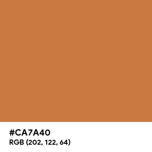 Turmeric Red (Hex code: CA7A40) Thumbnail