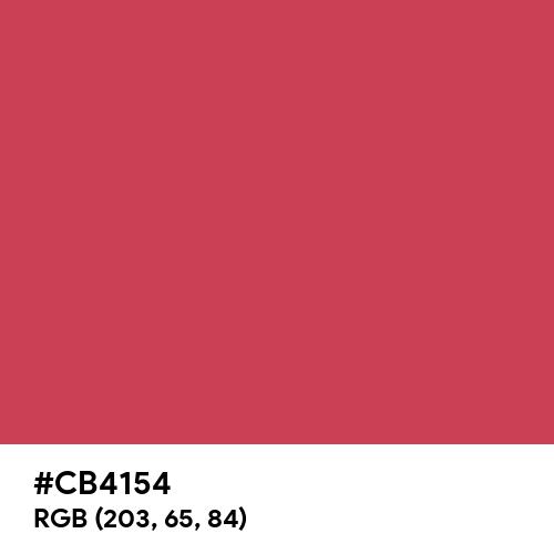 Brick Red (Hex code: CB4154) Thumbnail