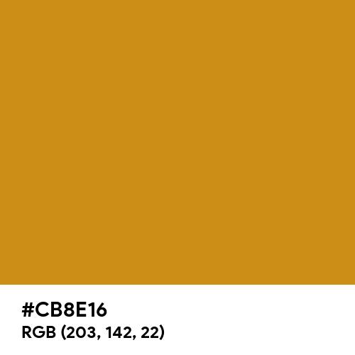 Golden Yellow (Pantone) (Hex code: CB8E16) Thumbnail