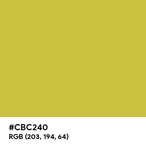 Old Gold (Hex code: CBC240) Thumbnail