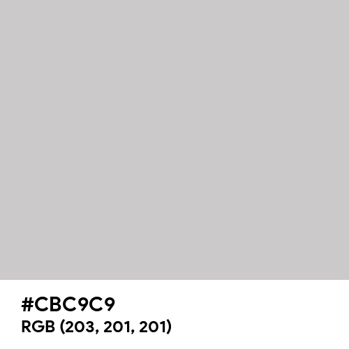 Ocean Gray (Hex code: CBC9C9) Thumbnail