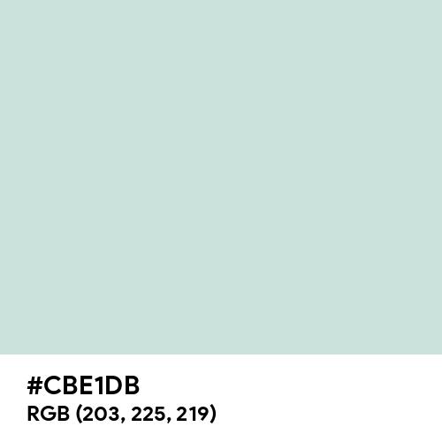 Columbia Blue (Hex code: CBE1DB) Thumbnail