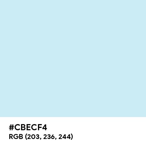 Water (Hex code: CBECF4) Thumbnail