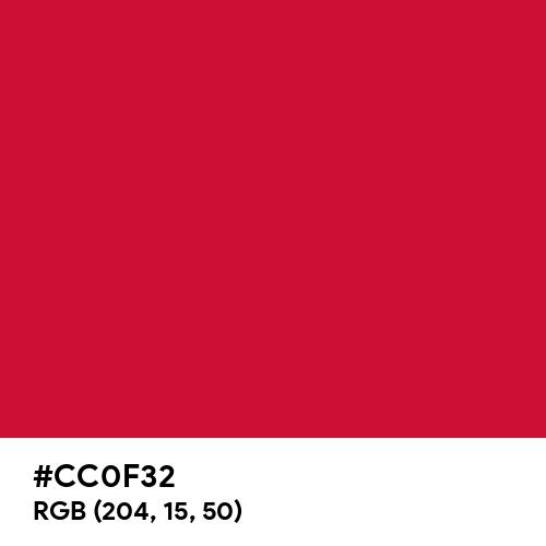 Cadmium Red (Ferrario) (Hex code: CC0F32) Thumbnail