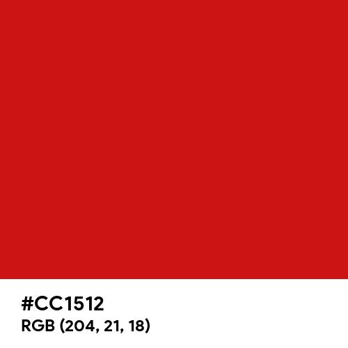 Venetian Red (Hex code: CC1512) Thumbnail