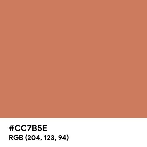 Raw Sienna (Hex code: CC7B5E) Thumbnail