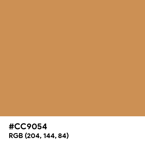 Rustic Bronze (Hex code: CC9054) Thumbnail