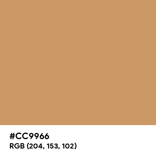 Brown Yellow (Hex code: CC9966) Thumbnail