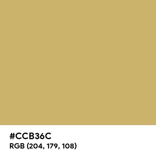 Dark Khaki (Hex code: CCB36C) Thumbnail