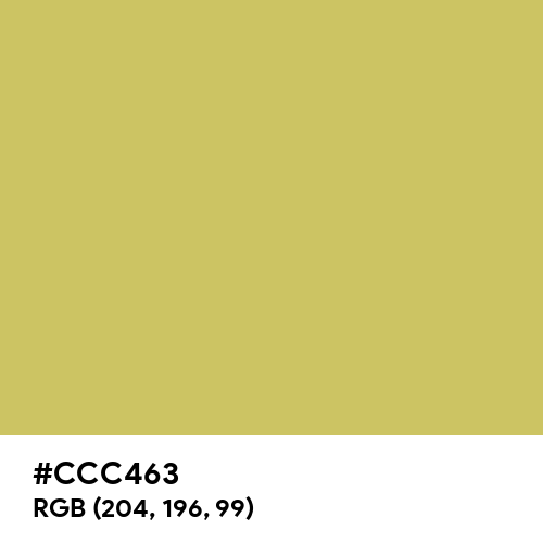 Dark Khaki (Hex code: CCC463) Thumbnail