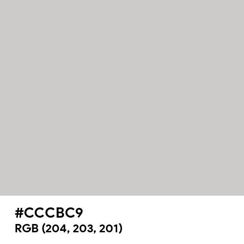 Chinese Silver (Hex code: CCCBC9) Thumbnail