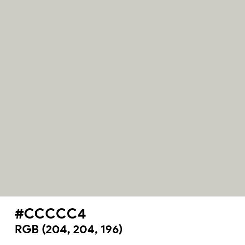 Pastel Grey (Hex code: CCCCC4) Thumbnail