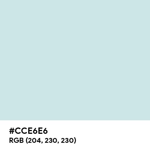 Celeste Velato (Hex code: CCE6E6) Thumbnail