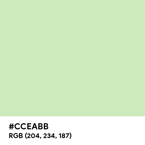 Tea Green (Hex code: CCEABB) Thumbnail