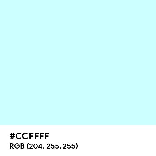 Celeste Pallido (Hex code: CCFFFF) Thumbnail