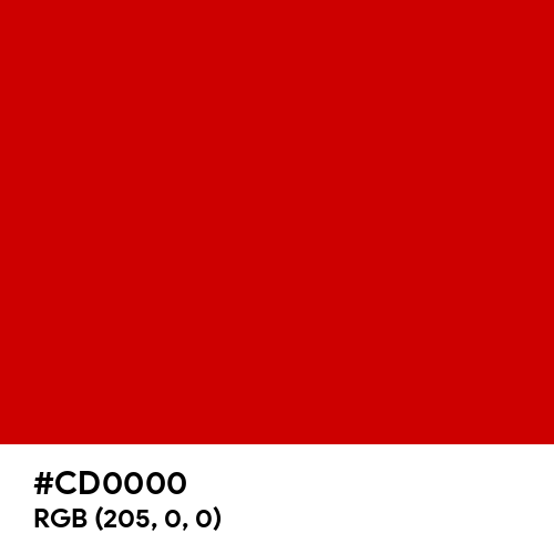Russian Red (Hex code: CD0000) Thumbnail