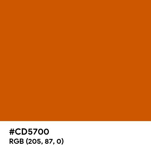 Tenné (Tawny) (Hex code: CD5700) Thumbnail