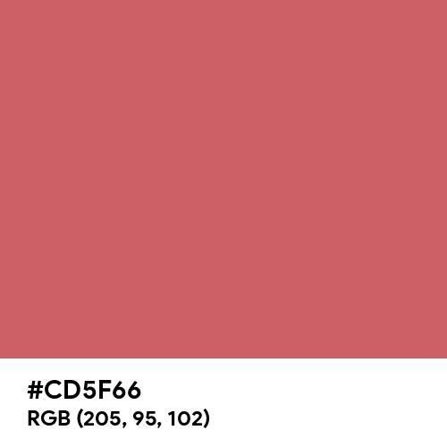 Calming Red (Hex code: CD5F66) Thumbnail