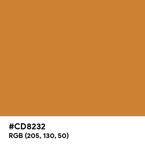 Copper CMYK (Hex code: CD8232) Thumbnail