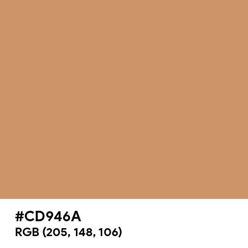 Faded Orange (Hex code: CD946A) Thumbnail