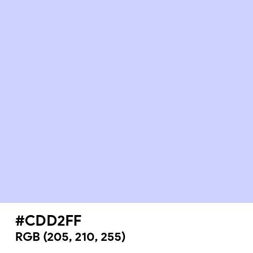 Lavender Blue (Hex code: CDD2FF) Thumbnail