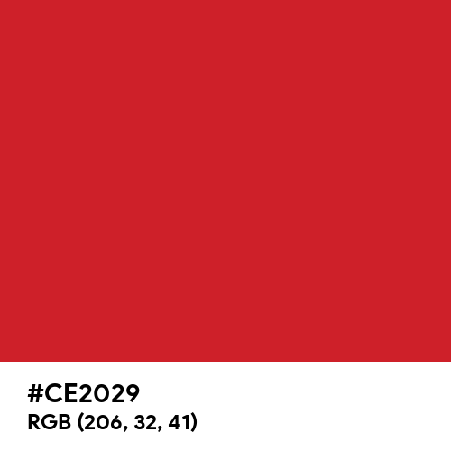 Fire Engine Red (Hex code: CE2029) Thumbnail