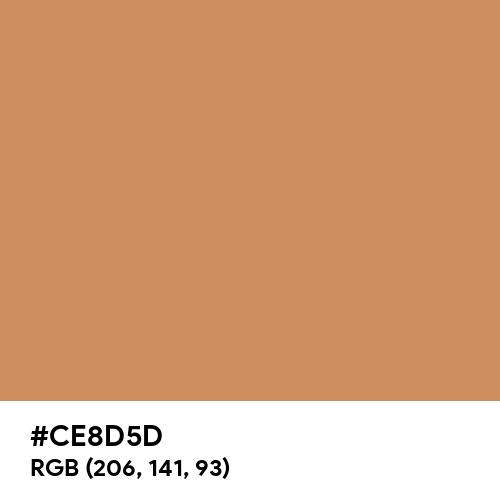 Warm Wood (Hex code: CE8D5D) Thumbnail