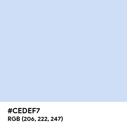 Azureish White (Hex code: CEDEF7) Thumbnail
