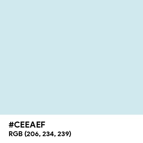 Water (Hex code: CEEAEF) Thumbnail