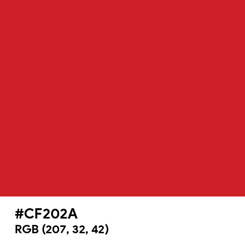 Fire Engine Red (Hex code: CF202A) Thumbnail