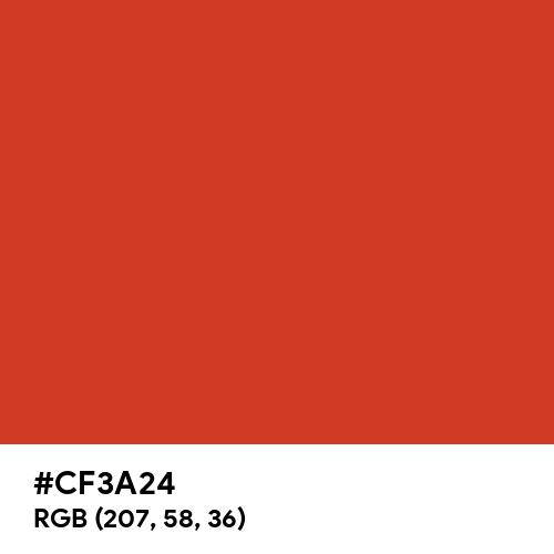 緋 (Ake) (Hex code: CF3A24) Thumbnail