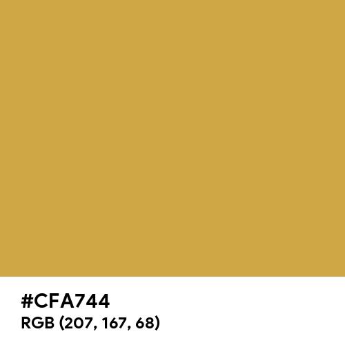 American Gold (Hex code: CFA744) Thumbnail