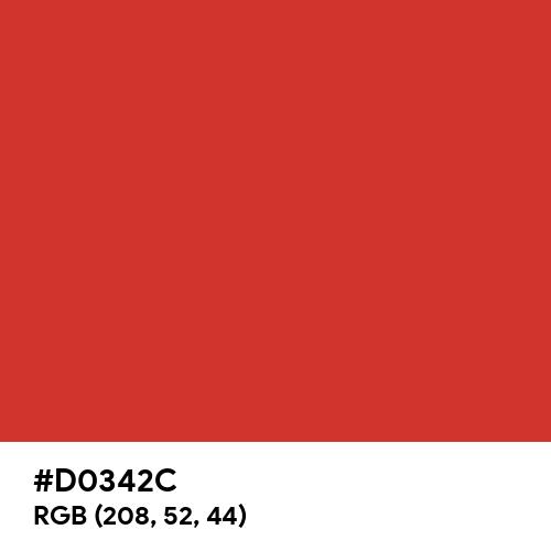Red Alert (Pantone) (Hex code: D0342C) Thumbnail