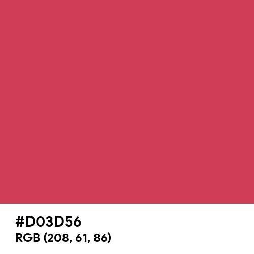 Light Maroon (Hex code: D03D56) Thumbnail