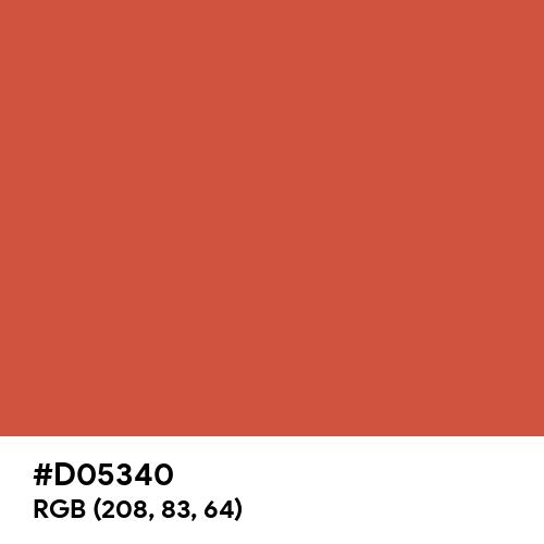 Jasper (Hex code: D05340) Thumbnail